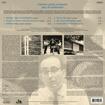 FRIEDRICH GULDA ORCHESTRA Back Cover