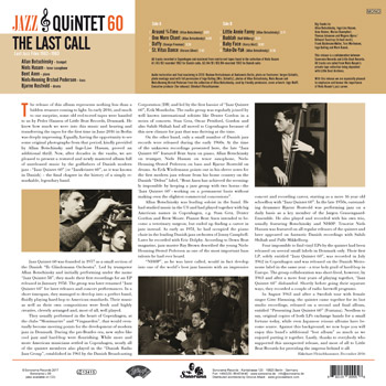 JAZZ QUINTET 60 - The Last Call Back Cover