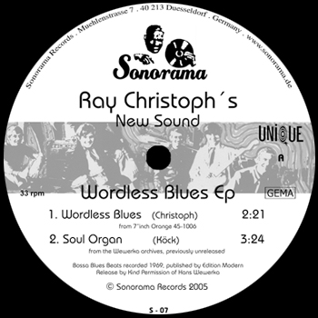 Ray Christoph's New Sound - Wordless Blues Ep